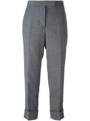Thom Browne Cropped Tailored Trousers Grey