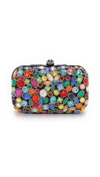 Santi Jeweled Box Clutch Navy