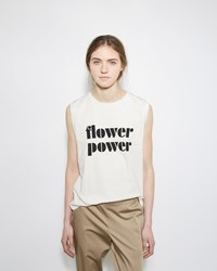 6397 Flower Power Muscle Tee White