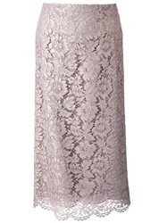 Valentino Lace Skirt Grey