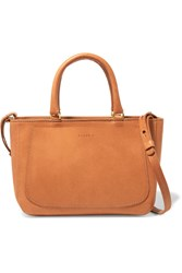 Clare V. V Paul Supreme Small Leather Tote Camel