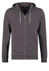 New Look Tracksuit Top Charcoal Anthracite