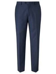 John Lewis Super 100S Wool Flannel Tailored Suit Trousers Blue