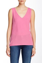 French Connection V Neck Sleeveless Blouse Pink