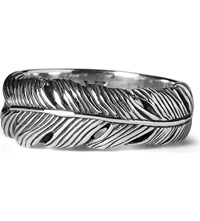 Seven London Life Feather Ring Silver