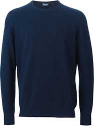 Drumohr Crew Neck Sweater Blue