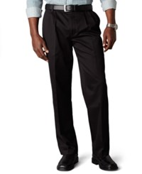 Dockers D3 Classic Fit Signature Khaki Pleated Pants Black