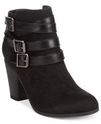 Material Girl Minah Ankle Booties Only At Macy's Women's Shoes Black