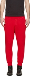 Dsquared Red New Dan Fit Lounge Pants