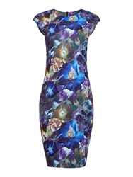 Pied A Terre Mila Printed Dress Multi Coloured