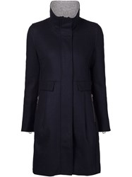 Capobianco High Neck Coat Blue