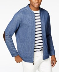 Tasso Elba Men's Big And Tall Double Knit Bomber Jacket Only At Macy's