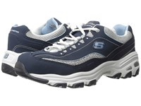 Skechers D'lites Life Saver Navy Women's Lace Up Casual Shoes
