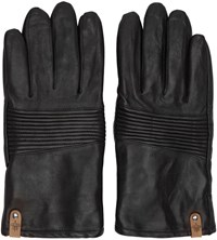 Mackage Black Lambskin Gunner Gloves