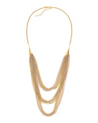 Emily And Ashley Tri Tone Multi Chain Long Necklace Tri Color