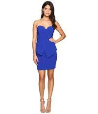 Adelyn Rae Tube Dress W Peplum Cobalt Women's Dress Blue