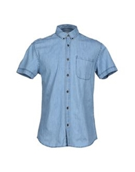 Only And Sons Denim Shirts Blue