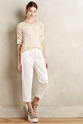 Cartonnier Tapered High Rise Chinos White