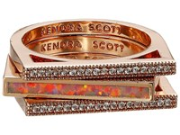 Kendra Scott Lucia Ring Set Rose Gold Coral Kyocera Opal Ring