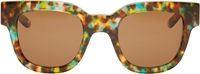 Sun Buddies Brown And Turquoise Speckled Type 05 Sunglasses