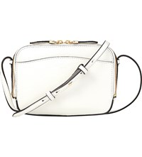 Lk Bennett Mariel Boxy Leather Cross Body Bag Whi White