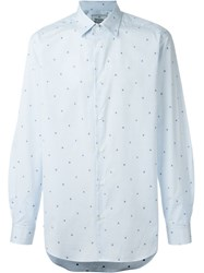 Vivienne Westwood Man Number Print Checked Shirt White