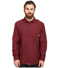 Vans Cardale Long Sleeve Flannel Red Dahlia Men's Clothing