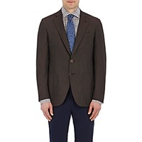 Isaia Men's Two Button Gregory Sportcoat Brown