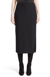 St. John Women's Collection Chevron Knit Midi Skirt Caviar