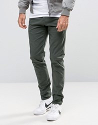 Selected Homme Skinny Fit Chino With Stretch Khaki Green