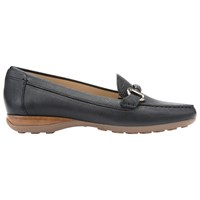 Geox Euro Flat Slip On Loafers Black