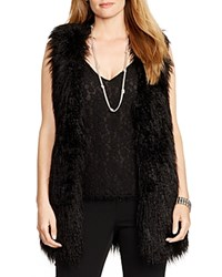 Lauren Ralph Lauren Plus Faux Fur Vest Black