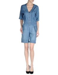 M.Grifoni Denim Short Overalls Blue