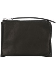 Rick Owens Zipped Coin Pouch Black