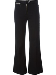 Paige Zip Detail Flared Jeans Black