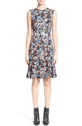 Erdem 'Jelena' Sleeveless Floral Print Ponte Knit Dress Pink Multi