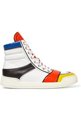 Balmain Nash Leather High Top Sneakers White