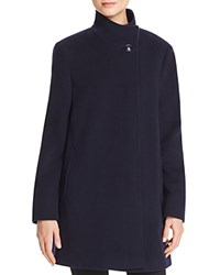 Basler Classic High Neck Coat Blue