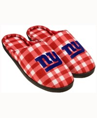 Forever Collectibles New York Giants Flannel Slide Slippers Blue