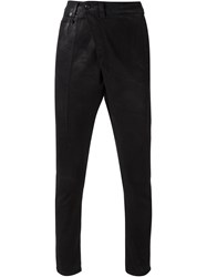 R 13 R13 Wrap Style Coated Jeans Black