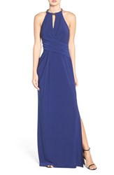 Laundry By Shelli Segal Women's Chain Neck Jersey Gown