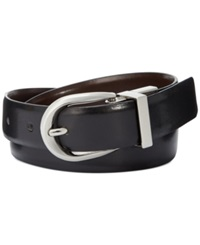 Style And Co. Reversible Pant Belt Black Silver