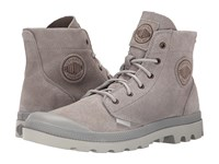 Palladium Pampa Hi Suede Ul Vapor Silver Birch Men's Lace Up Boots Gray