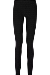 Missoni Wool Blend Crochet Knit Skinny Pants Black