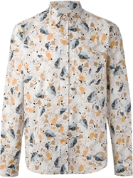 Acne Studios 'Isherwood' Marble Print Shirt White