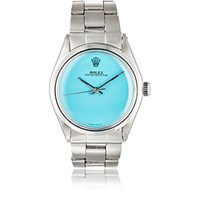 Vintage Watch Women's Oyster Perpetual Date Turquoise