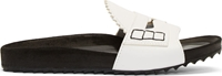 Band Of Outsiders Black And White Loafer Front Slip On Sandals