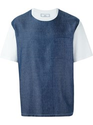 Ami Alexandre Mattiussi Denim Detail T Shirt Blue