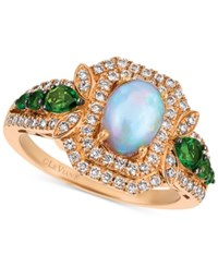 Le Vian Opal 5 8 Ct. T.W. Diamond 1 2 Ct. T.W. And Diopside 3 8 Ct. T.W. Ring In 14K Rose Gold