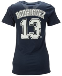 5Th And Ocean Women's Alex Rodriguez New York Yankees Foil Player T Shirt Navy
